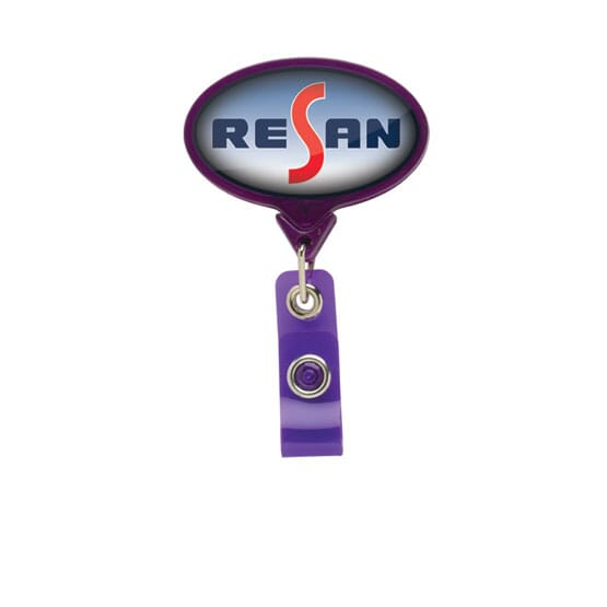 Dome Style Mighty Oblong Badge Reel