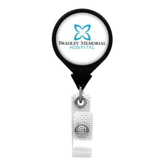 Anti-Microbial Jumbo Round Badge Reel- Polydome
