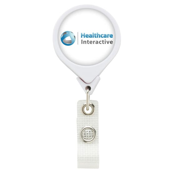 Dome Style Healthy Circles Badge Reel