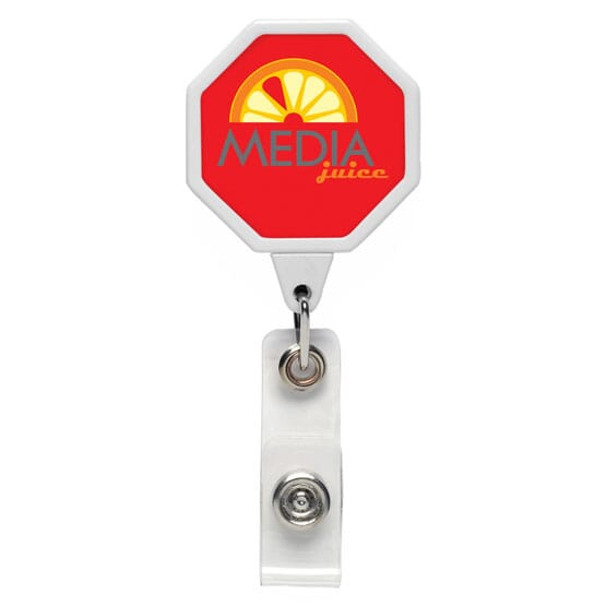 Dome Style 8-Sided Badge Reel