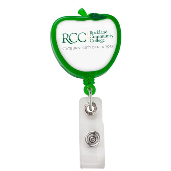 Dome Style Apple Shaped Badge Reel