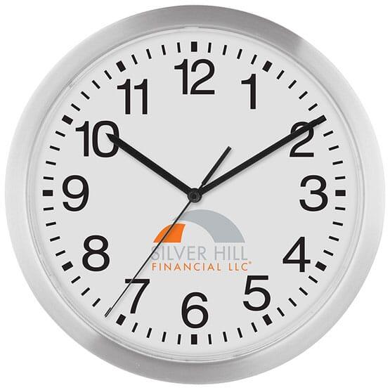 12Inch Slim Metal Wall Clock