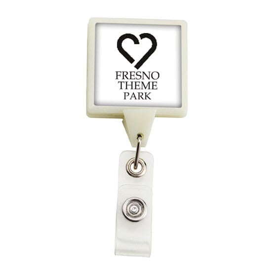 Dome Style Square Bright Glow Badge Reel