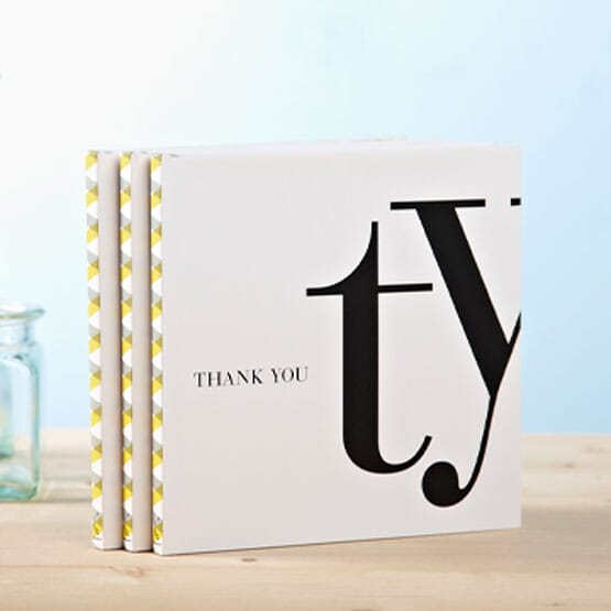 Custom thank you notebook