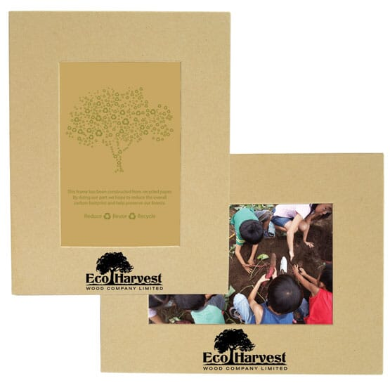 Eco friendly recycled paper picture frame
