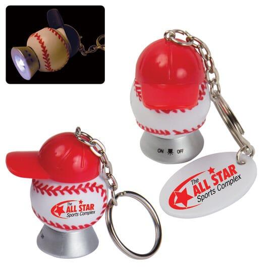 Baseball And Cap Keychain