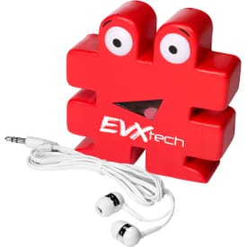 2-In-1 Stress Reliever And Earbud Set