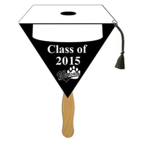 White Top Cap Shaped Graduation Fan
