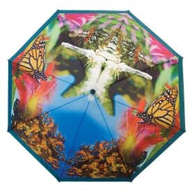 The Vented Little Giant™ Folding Golf Umbrella- Full Canopy Digital Printing