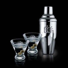 Martini Shaker & Glass Kit