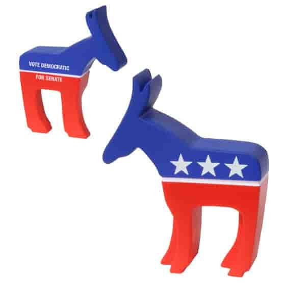 Democratic Donkey Stress Shape