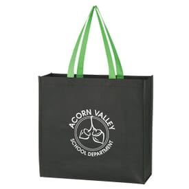 Colored Handle Tote Bag