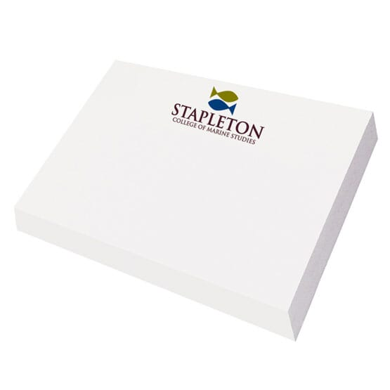 "Post-It® Custom Printed Notes Full Color Program - 3"" x 4"" - 24hr Service"