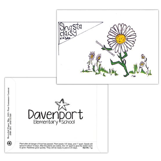 Dorothy's Kids Series Seed Packet- Shasta Daisy
