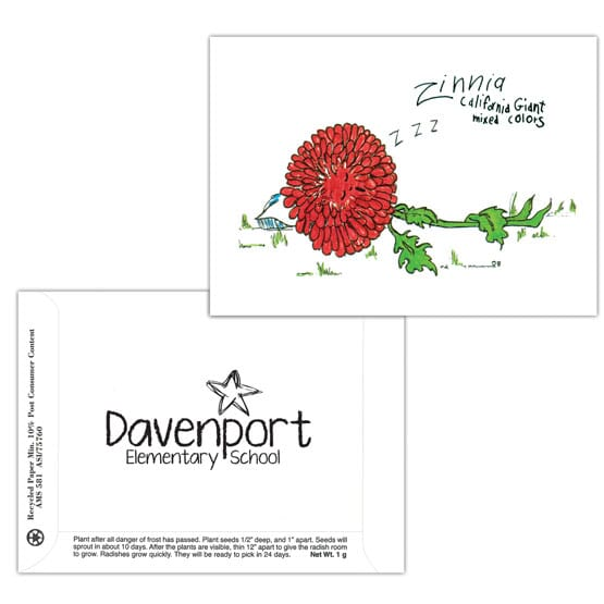 Dorothy's Kids Series Seed Packet- Zinnia