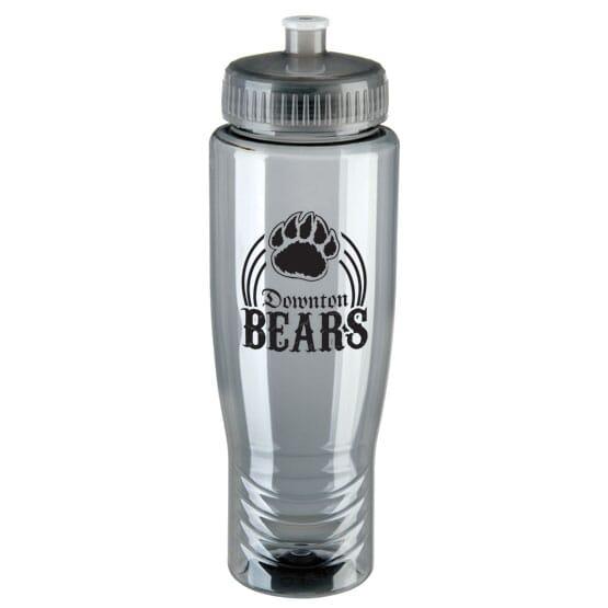 Gray durable water bottle