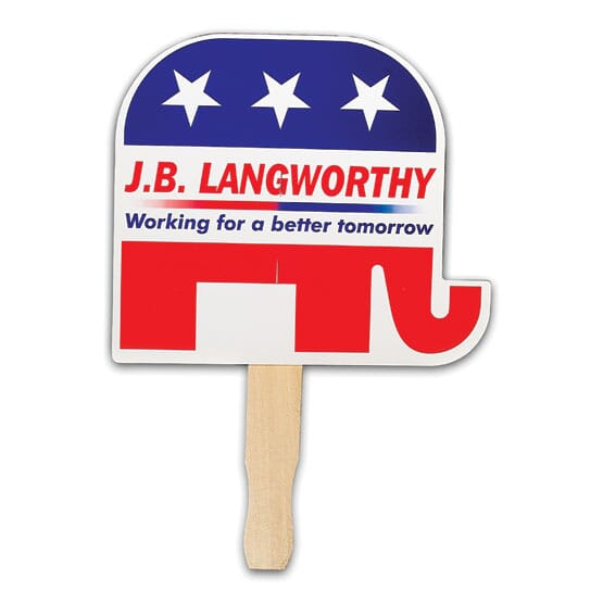 Patriotic Hand Fan- Elephant