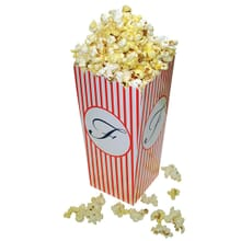 Collapsible popcorn box with logo