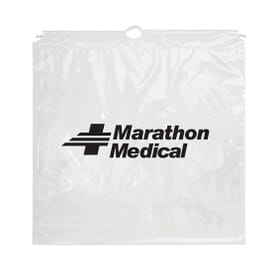 "20"" x 20"" x 4"" Large Plastic Cotton Cord Bag"