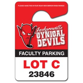 Plastic Hang Tag/Parking Permit 3X4.5