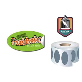 Roll Stickers/Decal Indoor Permanent 2X1 Oval