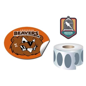 Roll Stickers/Decal Indoor Permanent 4.25X3 Oval