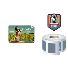 Roll Stickers/Decal Indoor Permanent 3X2 Rectangle