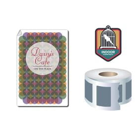 Roll Stickers/Decal Indoor Permanent 6X4 Rectangle
