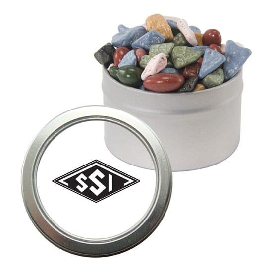 Candy Window Chocolate Rocks Tin