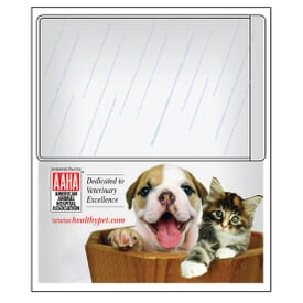 "4"" X 4 3/4"" Pocket Pals™ Rectangle Magnetic Card Holder"