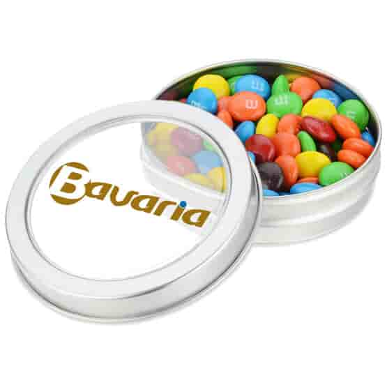 Small Top View Tin With M&M's®