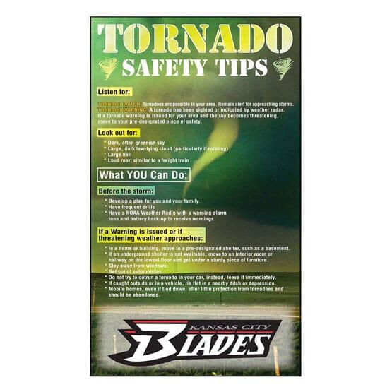 "3 1/2"" x 6"" Tornado Safety Tips Mega-Mags™ Magnet"