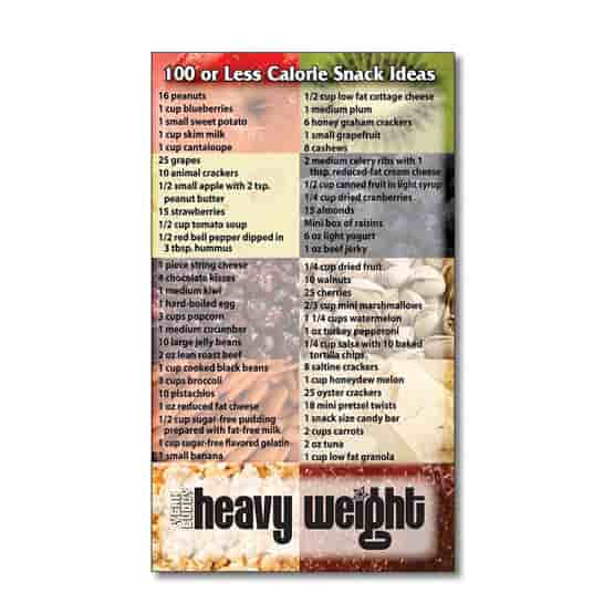 "3 1/2"" x 6"" 100 Calorie Snacks Mega-Mags™ Magnet"