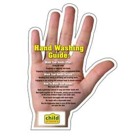 """4 1/2"""" X 6"""" Mega-Mag™ Shapes """"Hand Washing Tips"""" Magnet"""