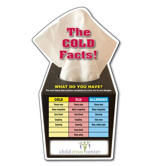 "4"" x 7"" Mega-Mag™ Shapes Magnet- ""The Cold Facts"" Stock Graphic"