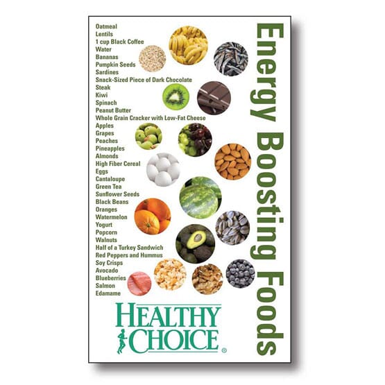"3 1/2"" x 6"" Energy Boosting Foods Mega-Mags™ Magnet"