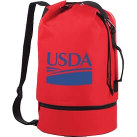 Drop Bottom Duffle Sling Bag