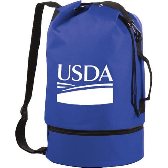 Drop Bottom Duffel Sling Bag