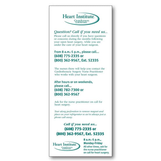 Cover Stock Advertising Magnet
