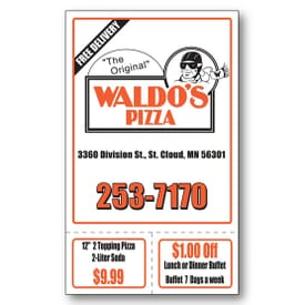 Perforated Advertising Magnet