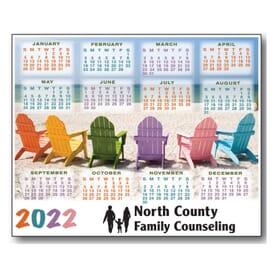 2022 Beach Chair Magnet Calendar