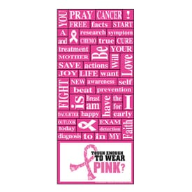 """3 1/2"""" X 8"""" Breast Cancer Awareness Words Plus™ Business Card"""