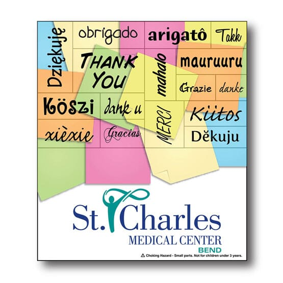 "3 1/2"" x 4"" Thank You Words Plus™ Business Card"