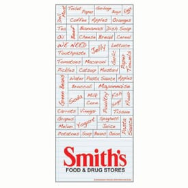 "3 1/2"" X 8"" Shopping List Words Plus™ Business Card"