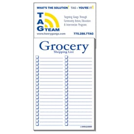 "3 1/2"" X 7 1/2"" Business Card Add-On™ Magnet + Large Pad - Grocery List"