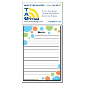 "3 1/2"" X 7 1/2"" Business Card Add-On™ Magnet + Large Pad- Bubbles"
