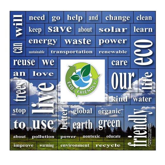 """5 1/4"""" x 5 1/2"""" Eco-Friendly Words Plus™ Magnet"""