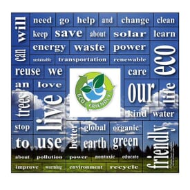 "5 1/4"" X 5 1/2"" Eco-Friendly Words Plus™ Magnet"