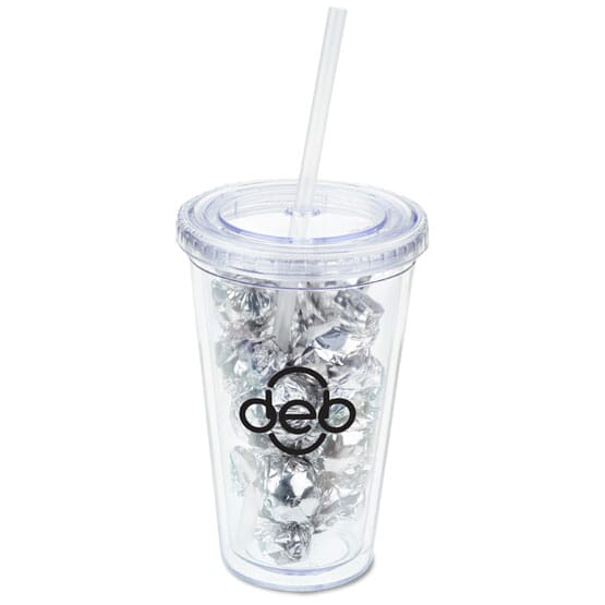 16 Oz. Tumbler with Twist Wrapped Truffles