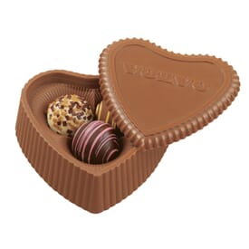 Chocolate Heart Box With 3 Truffles